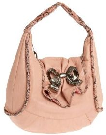 Betsey Johnson Croco Bow Bag