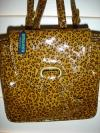 Bottega Veneta Animal Print Backpack | Patent Leather Purse with Leopard Spots