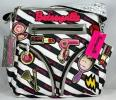 Betsey Johnson Glamour Girl Bag | Fun and Flirty Striped Cross Body Purse from Betseyville Range