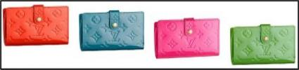 Louis Vuitton Monogram Vernis French Mini-Clutch | Bright & Colorful LV Wallets