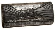 Whiting & Davis Leather Knot Clutch | Chic Mesh Evening Purse
