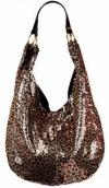 Evans Sequin Leopard Bag | Large Loud Inexpensive Synthetic Party Purse