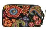 Vera Bradley Zip Around Wallet | Symphony in Hue Pattern Quilted Purse