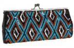 KC Malhan Taos Clutch | Embellished Colorful Diamond Pattern Purse