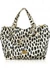 Marc by Marc Jacobs Franny Animal-Print PVC Tote | Trendy And Durable PVC Tote With Black And White Cheetah Print