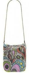 Whiting & Davis Pop Art Small Hobo | Colorful Patterned Silver Mesh Purse