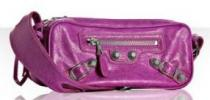 Balenciaga Giant Chic Box Bag | Small Modern Fuchsia Lambskin Purse