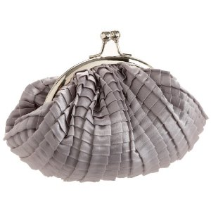 Jessica McClintock Pleated Frame Clutch