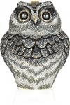 Judith Leiber Owl Fine Crystal-Embellished Clutch | Questionably Elegant Animal-Shaped Bag