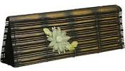 Global Elements Bamboo Clutch | Rustic Asian Flower Purse