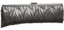 Jessica McClintock Leaf Embossed Frame Clutch | Faux Leather Vintage Style Evening Purse