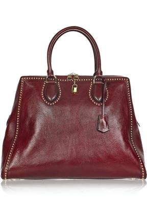 Alexander McQueen Lock-It Studded Leather Bag