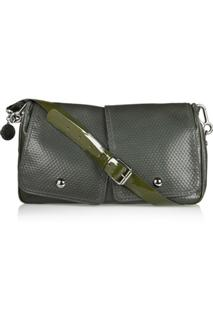 Stella McCartney Embossed Faux Leather Saddle Bag