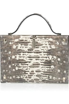 Valentino Studded Lizard Clutch