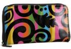 Tepper Jackson Calypso Zippered Wallet | Colorful Patterned Coated Canvas Purse