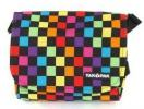 Yak Pak Lil Cross-Body Bag | Colorful Checkerboard Patterned Messenger Style Flap Handbag