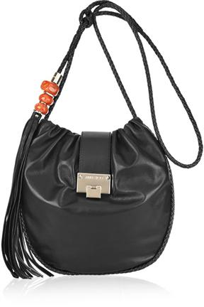 Jimmy Choo Roxana Vintage Leather Shoulder Bag
