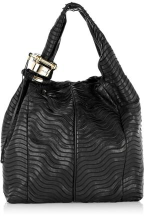 Jimmy Choo Saba Textured Leather Tote