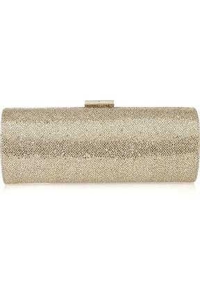 Jimmy Choo Tube Glitter Twill Clutch