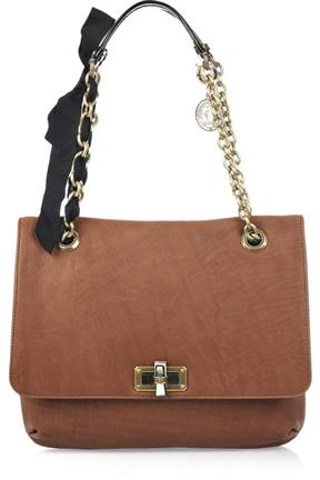 Lanvin Happy Medium Leather Shoulder Bag
