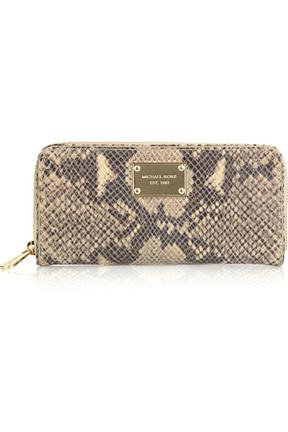 MICHAEL Michael Kors Python Print Leather Wallet