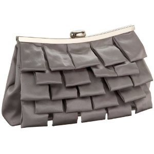 Menbur Ruffled Satin Clutch