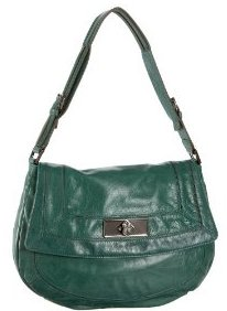 BCBG Max  Azria Vintage Crackle Leather Shoulder Bag