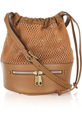 Chloe Perforated Leather Bucket Bag