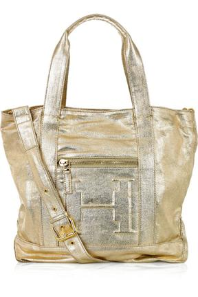 Halston Heritage Metallic Cotton Medium Tote