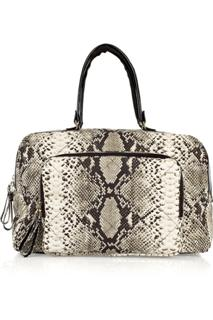 Lanvin Python Print Cotton Canvas Overnight Bag (WinCE)