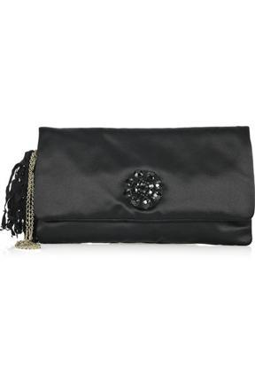 Lanvin Sac Oulouette Satin Clutch