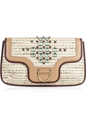 Marc Jacobs Jeannie Jewel Applique Large Tweed Clutch