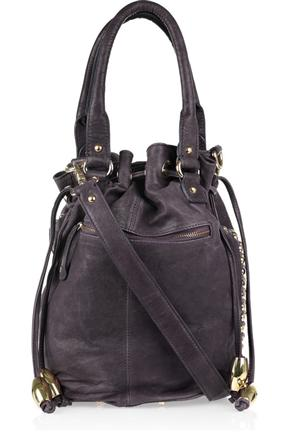 Sara Berman Stevie Leather Bucket Bag