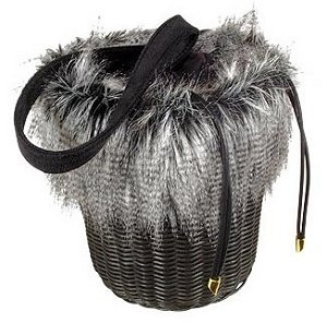 Forzieri Wicker Eco-Fur Handbag