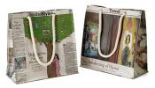 Recycled Newspaper Bags   Eco-Friendly Handbags Made From Old Papers
