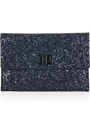 Anya Hindmarch Valerie Glitter Embellished Suede Clutch
