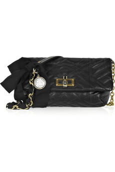 Lanvin Happicolo Quilted Leather Shoulder Bag