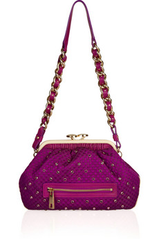 Marc Jacobs Little Stam Crystal Embellished Silk Bag