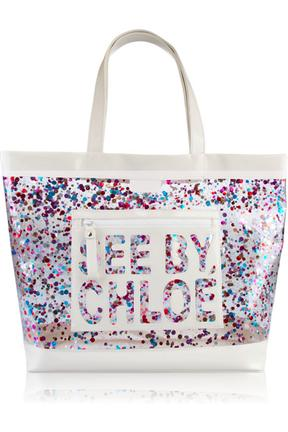 See By Chloe Patent Leather Sequin Tote