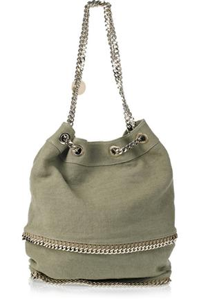 Stella McCartney Falabella Chain Trimmed Bucket Bag