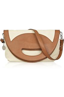 Stella McCartney Fold Over Canvas And Faux Leather Bag