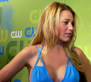 Blake Lively in Blue Dress
