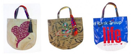 Dame Vivienne Westwood Ethical Fashion Africa Project Bags