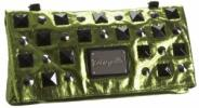 Betsey Johnson Betseyville Punky Rox Large Clutch | Bright Metallic Studded Purse