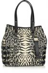 Jimmy Choo Batheth Large Snakeskin Trimmed Raffia Tote | Loud Animal Print Tote With Snake Trim