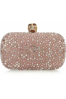 Alexander McQueen Classic Skull Diamante Embellished Box Clutch