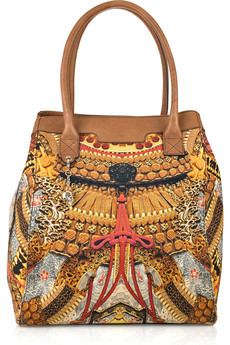 Alexander McQueen Printed Canvas And Leather Tote