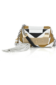 Diane von Furstenberg Harper Small Tasseled Leather Shoulder Bag