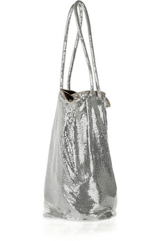 Halston Heritage Samantha Chain Mail Bucket Bag