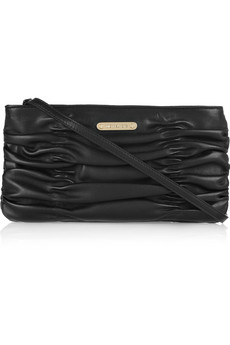 MICHAEL Michael Kors Webster Ruched Leather Clutch